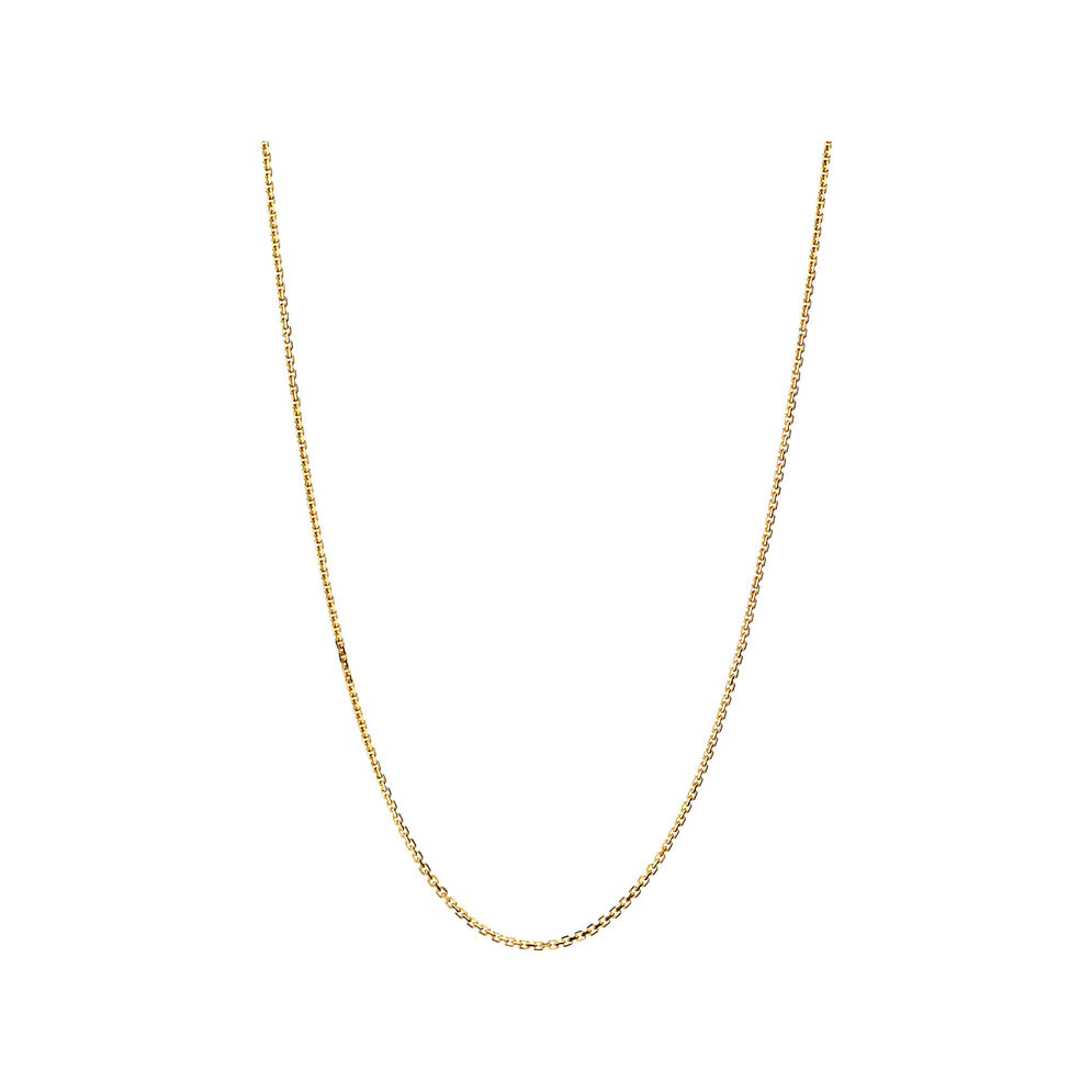 Essentials 18kt Yellow Gold 1mm Cable Chain 60cm, , hires