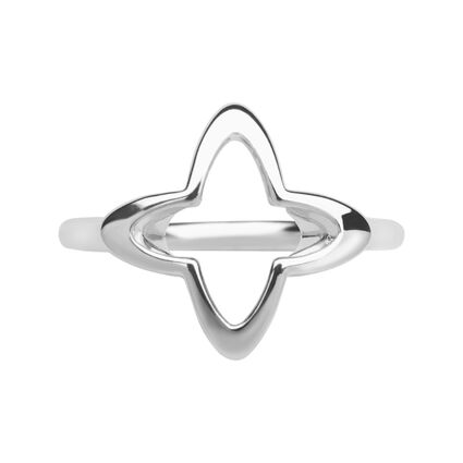Splendour Sterling Silver Open Four-Point Star Ring, , hires