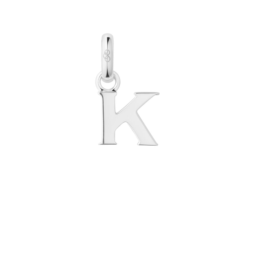 Sterling Silver K Charm, , hires
