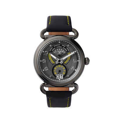 Driver Dashboard Yellow & Black Leather Watch, , hires