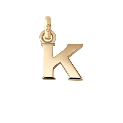 18kt Yellow Gold Letter K Charm, , hires