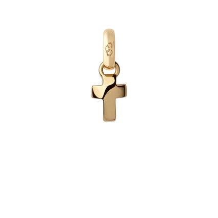 Mini 18K Yellow Gold Cross Charm, , hires