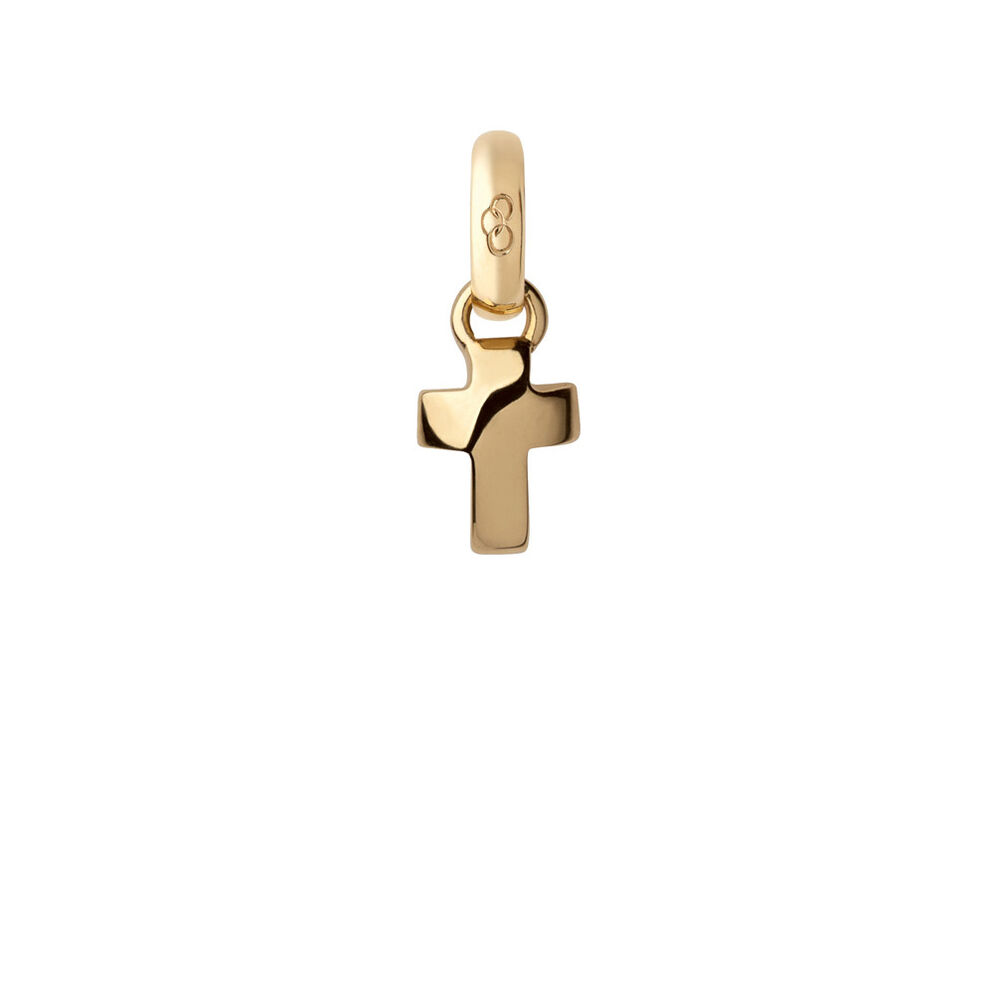 18kt Yellow Gold Cross Mini Charm, , hires