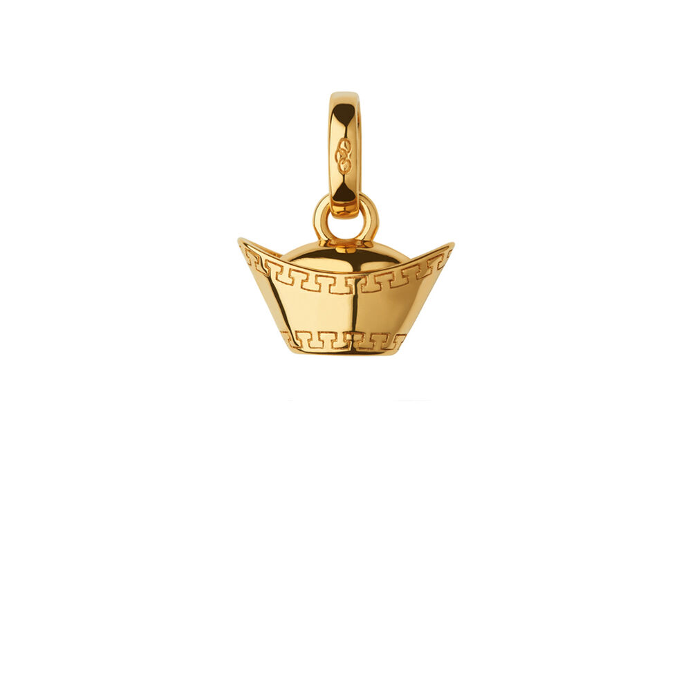 18kt Yellow Gold Vermeil Sycee Charm, , hires