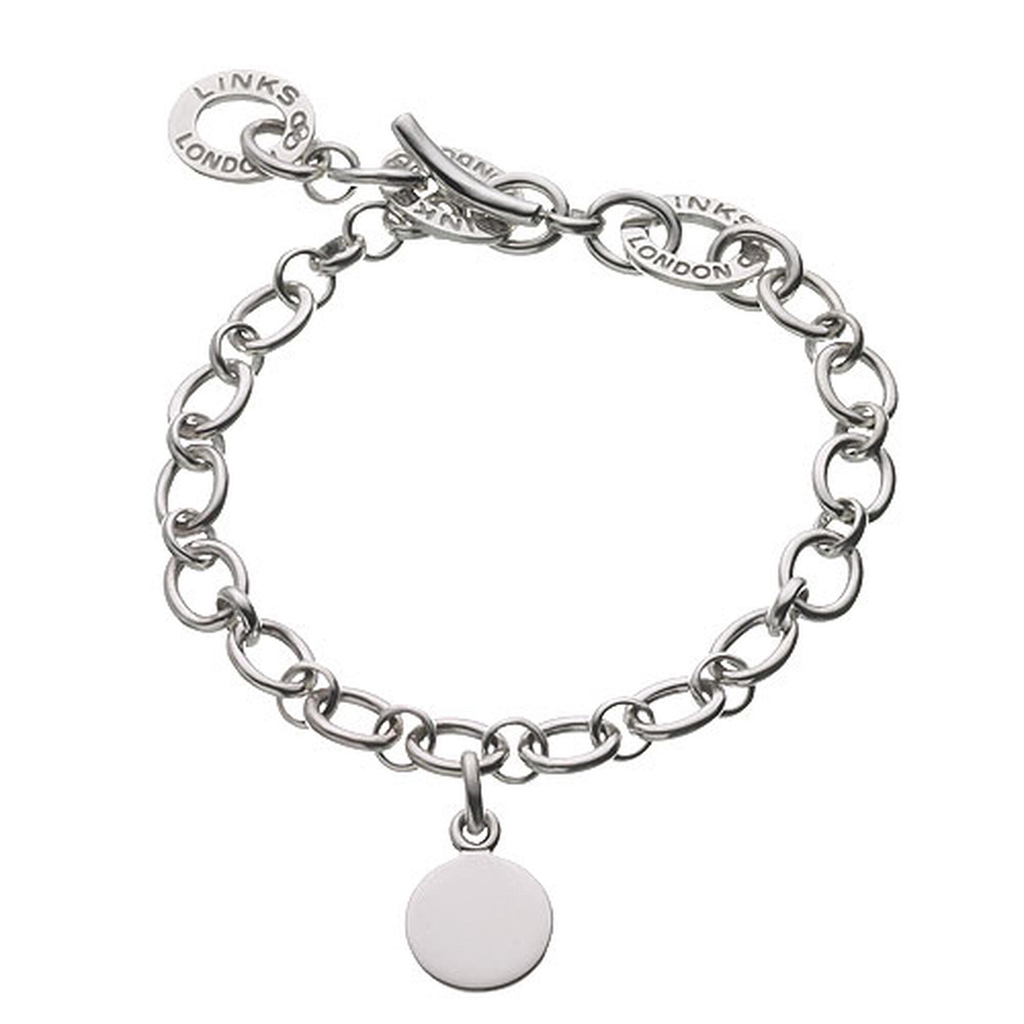 Silver Baby Disc Charm Bracelet