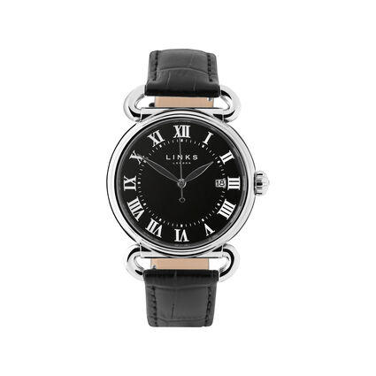 Driver Stainless Steel Black Large Watch, , hires