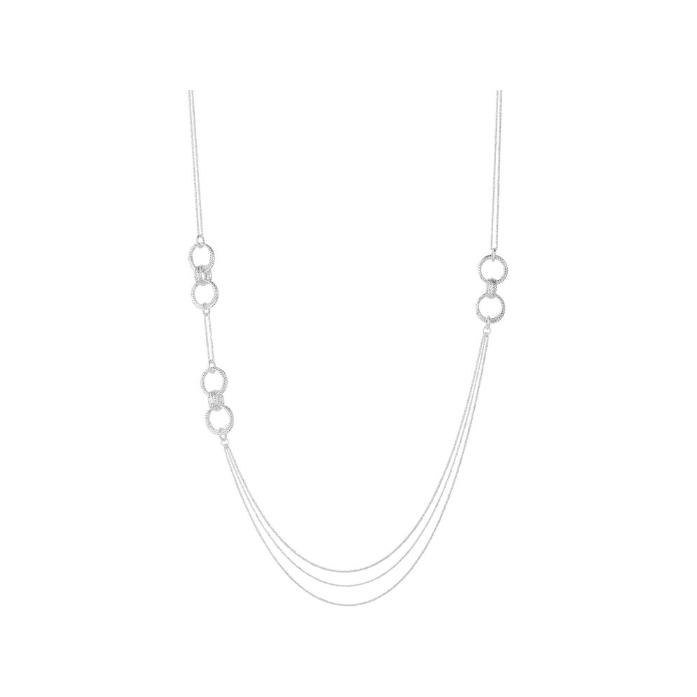 Aurora Sterling Silver Long Necklace, , hires