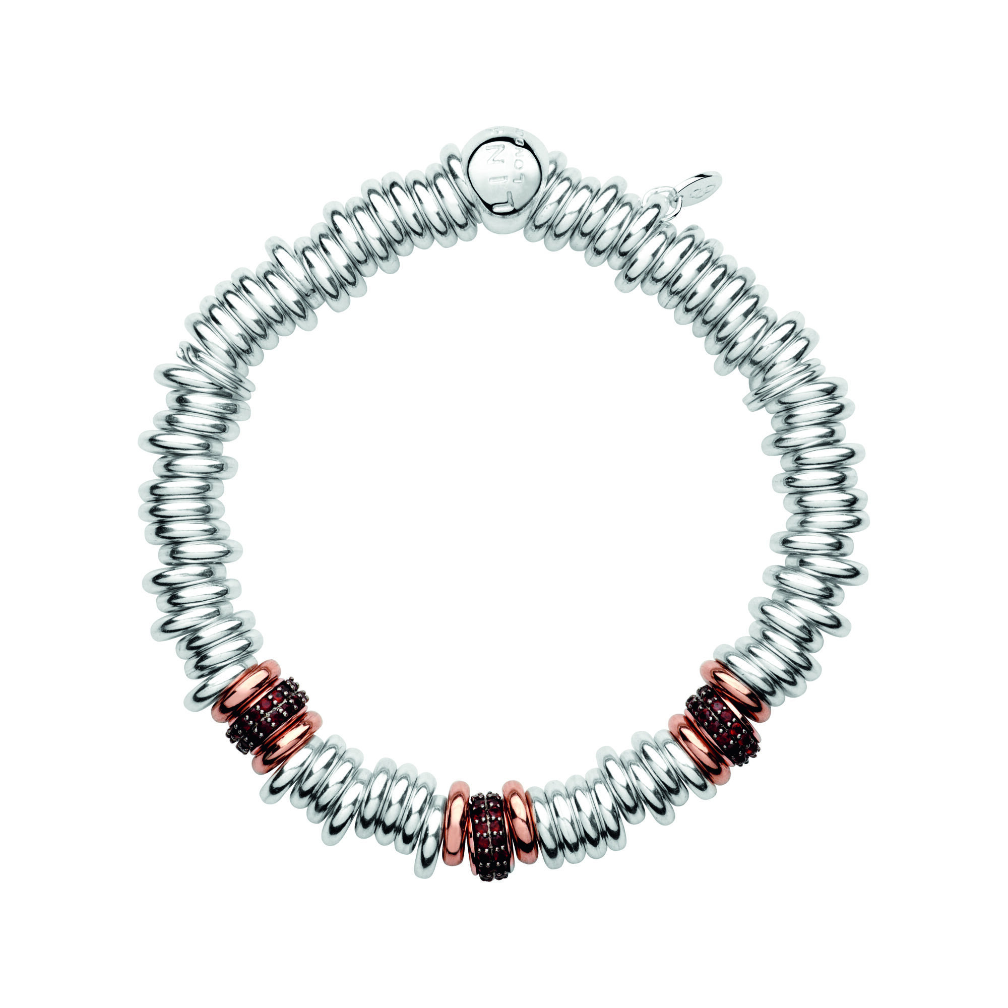 Sweetie 25 Years 18k Rose Gold Garnet Bead Bracelet Hires