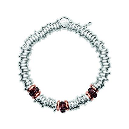 Sweetie 25 Years 18kt Rose Gold & Garnet Bead Bracelet, , hires