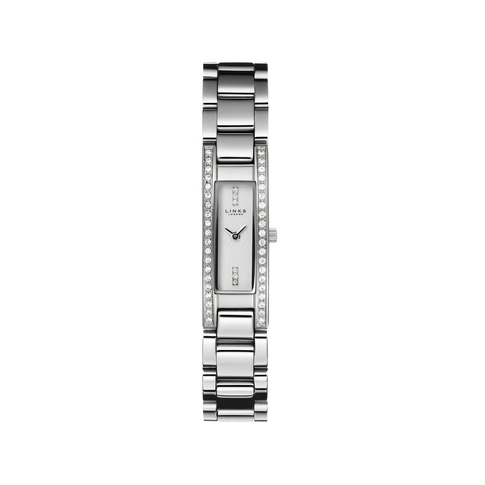 Selene Womens Stainless Steel and Sapphire Watch, , hires