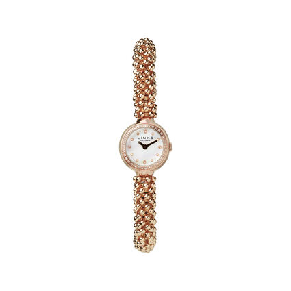 Effervescence Star Rose Gold Plate & Sapphire Watch, , hires