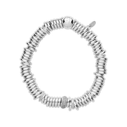 Sweetie Sterling Silver & Diamond Pave Bead Bracelet, , hires