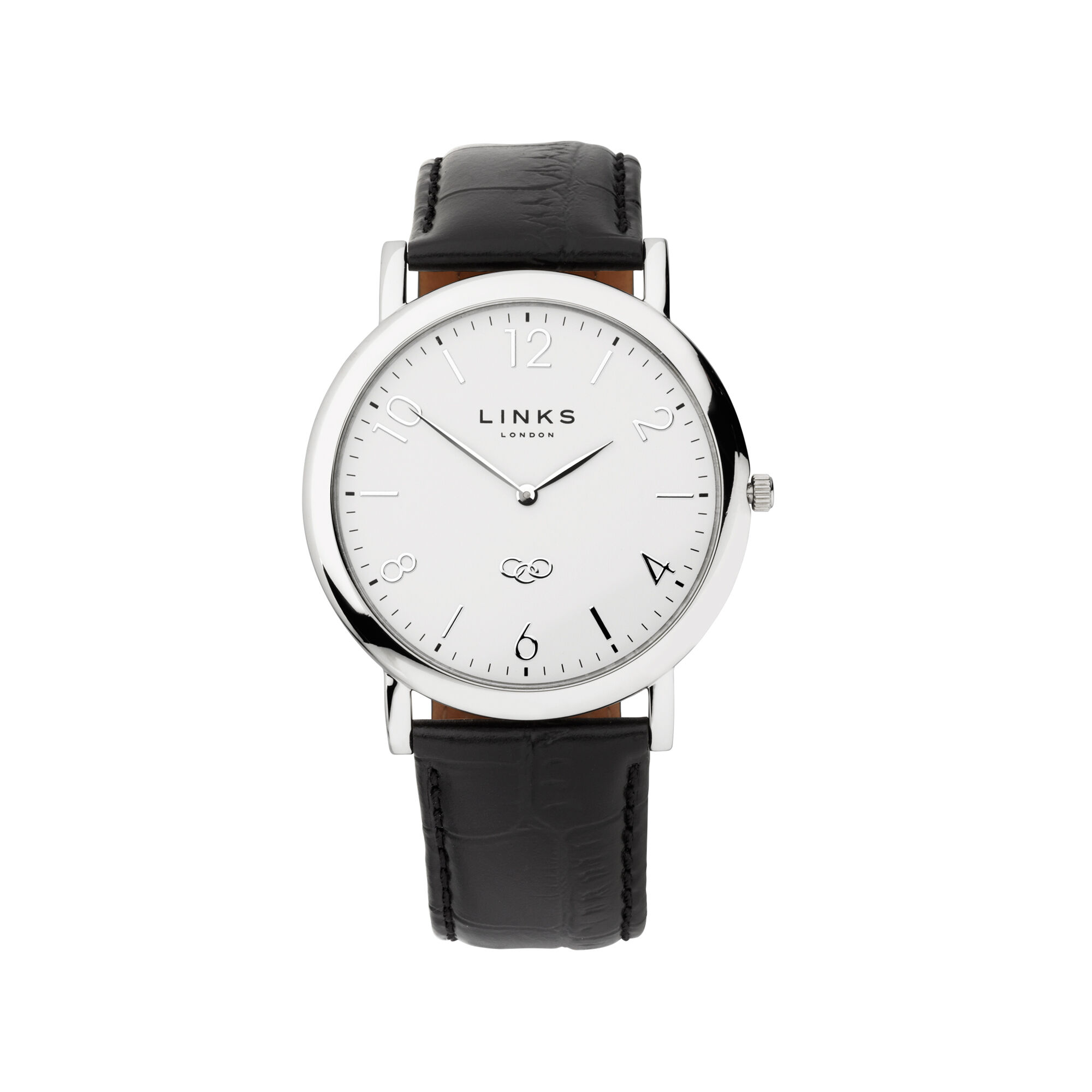 lyst gallery accessories womens glitter product strap watches guess watch leather black in no color
