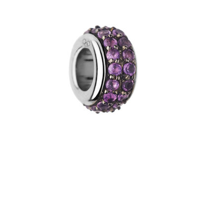 Sweetie Sterling Silver & Amethyst Pave Bead, , hires