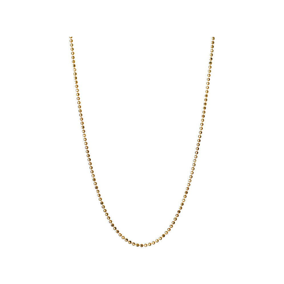 Essentials 18kt Yellow Gold 1mm Ball Chain 85cm, , hires