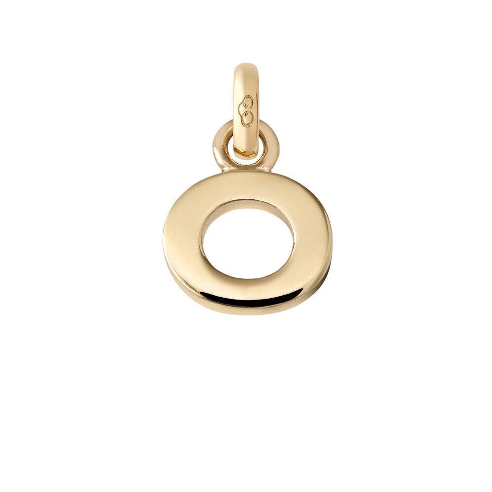 18kt Yellow Gold O Charm, , hires