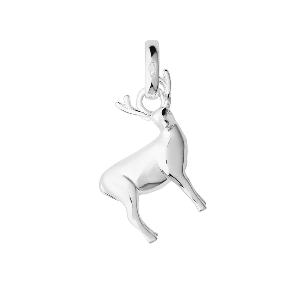 Sterling Silver Stag Woodland Charm, , hires