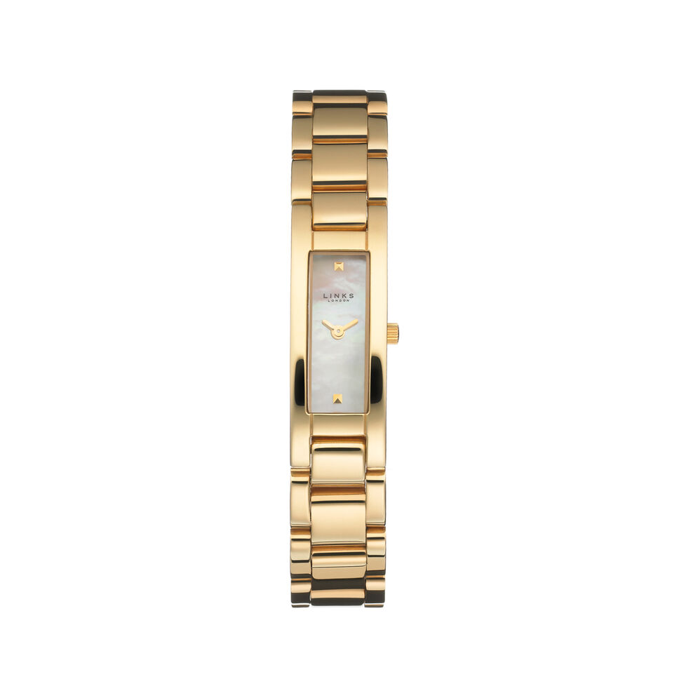 Selene Womens Gold Plate Bracelet Watch, , hires