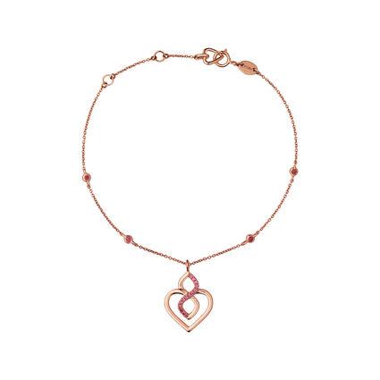18K Rose Gold & Rhodolite Garnet Infinite Love Bracelet, , hires