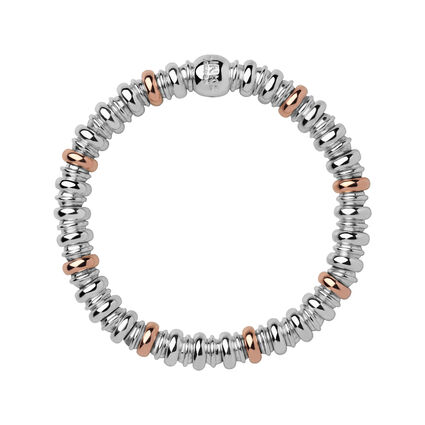 Sweetheart Sterling Silver & 18kt Rose Gold Vermeil Bracelet, , hires