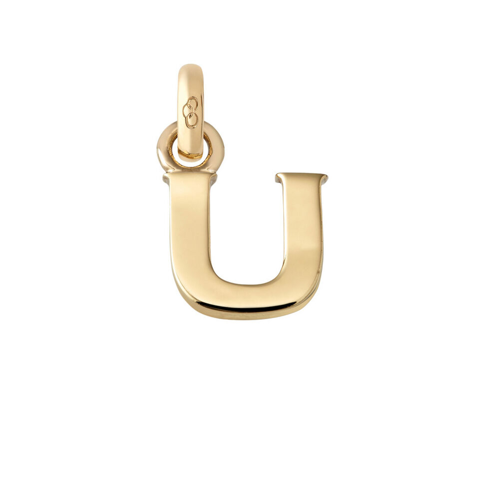 18kt Yellow Gold U Charm, , hires