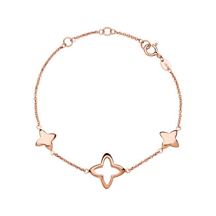 Splendour 18kt Rose Gold Vermeil Four-Point Star Station Bracelet, , hires