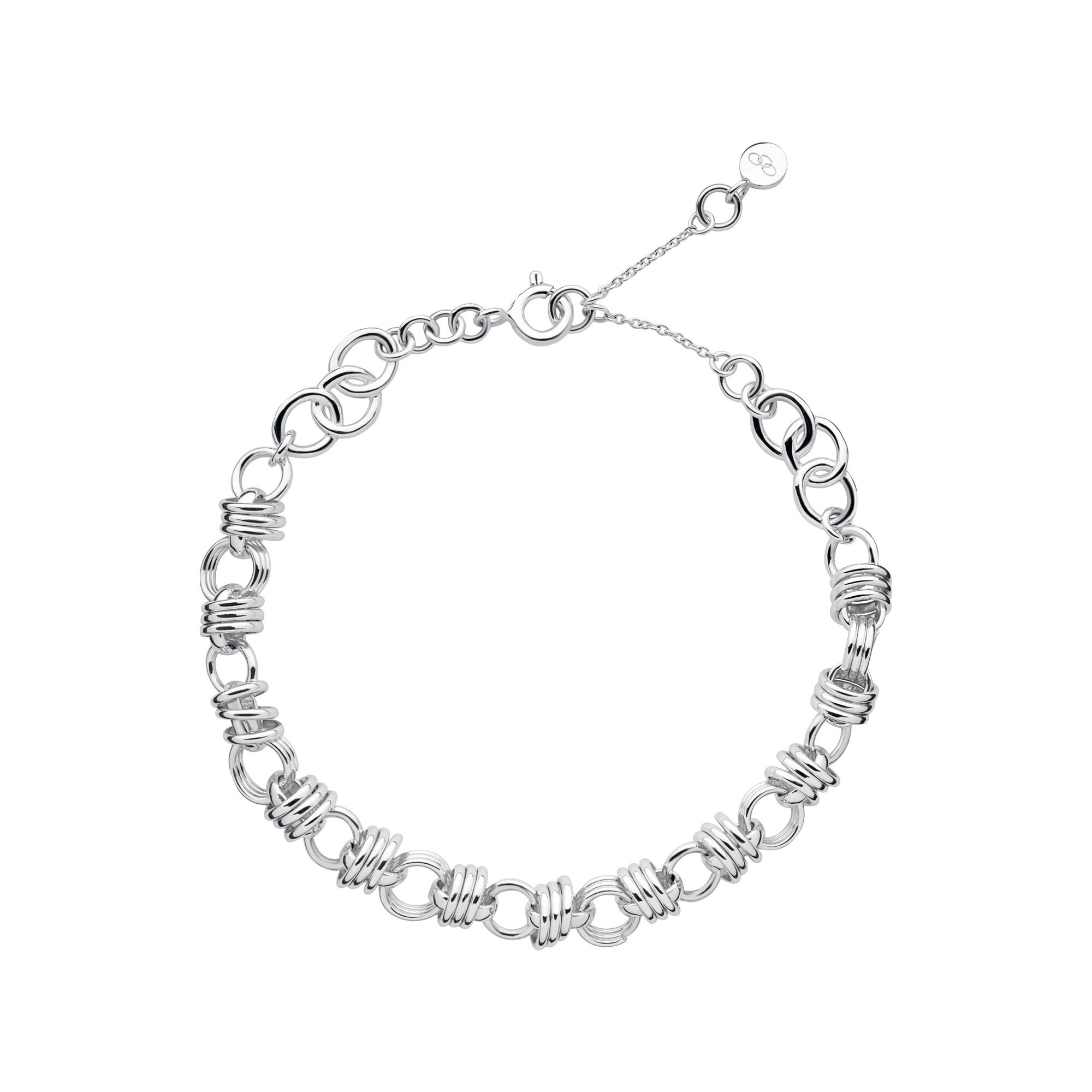 sterling and en bracelet anklet heart amp silver diamond hires london gb essentials pave links of