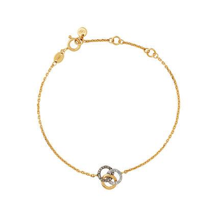 Treasured 18kt Yellow Gold Vermeil, Champagne & White Diamond Bracelet, , hires