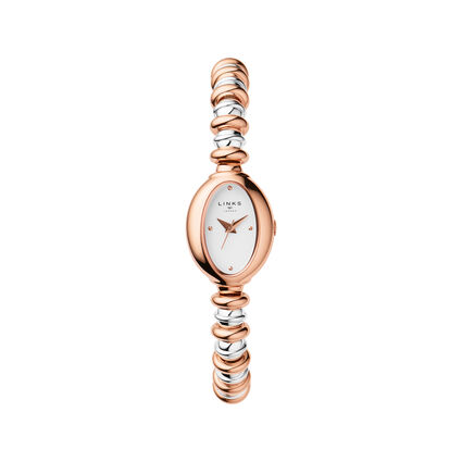 Sweetheart Rose Gold & Stainless Steel Watch, , hires