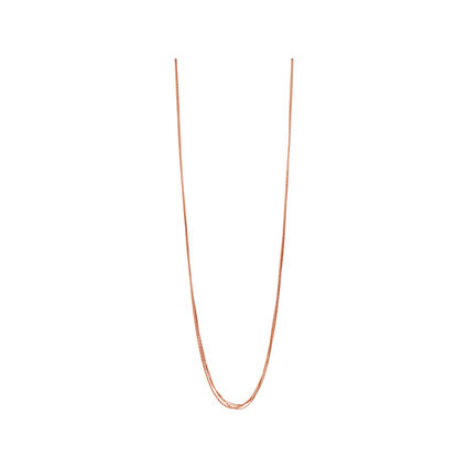 Essentials 18kt Rose Gold Vermeil Silk 5 Row Necklace 80cm, , hires