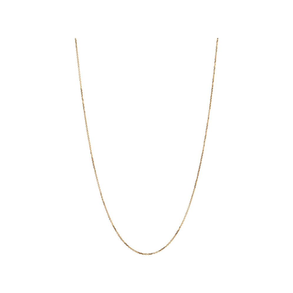 Essentials 18kt Rose Gold 1mm Cable Chain 45cm, , hires