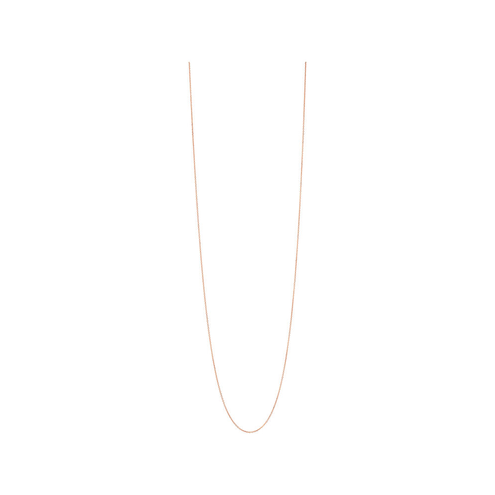 Essentials Rose Gold Vermeil 1.5mm Cable Chain 80cm, , hires