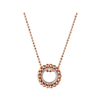 Effervescence 18kt Rose Gold & Diamond Necklace, , hires