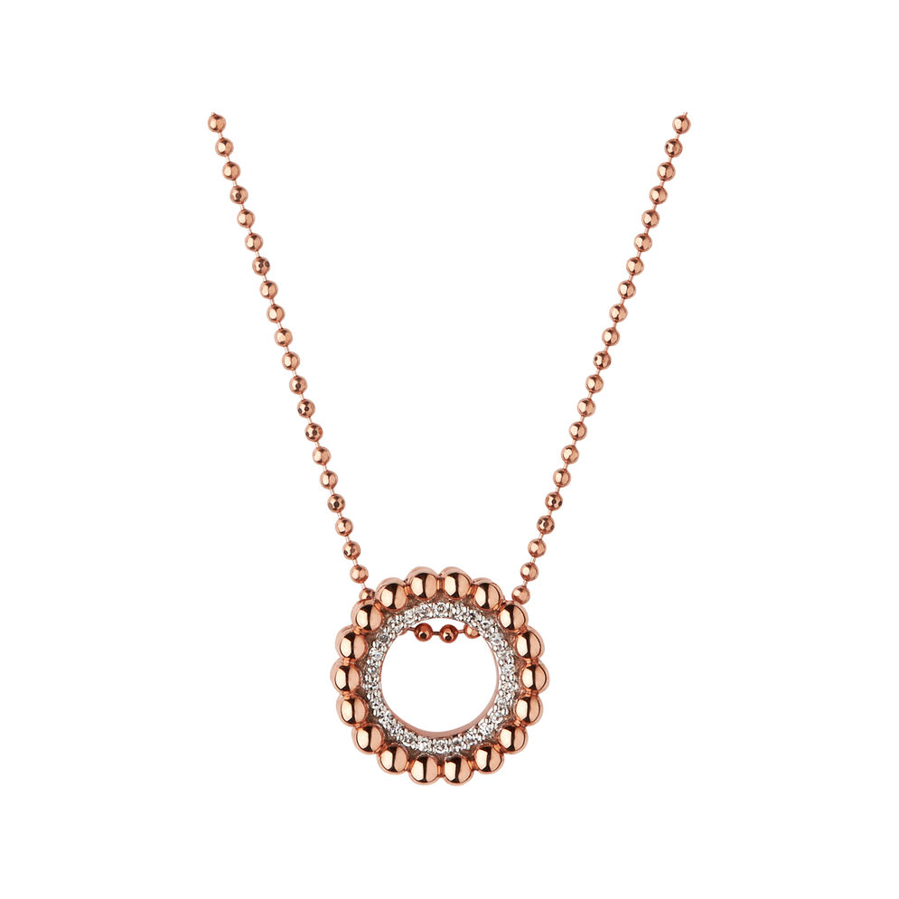 Effervescence 18ct Rose Gold & Diamond Necklace, , hires
