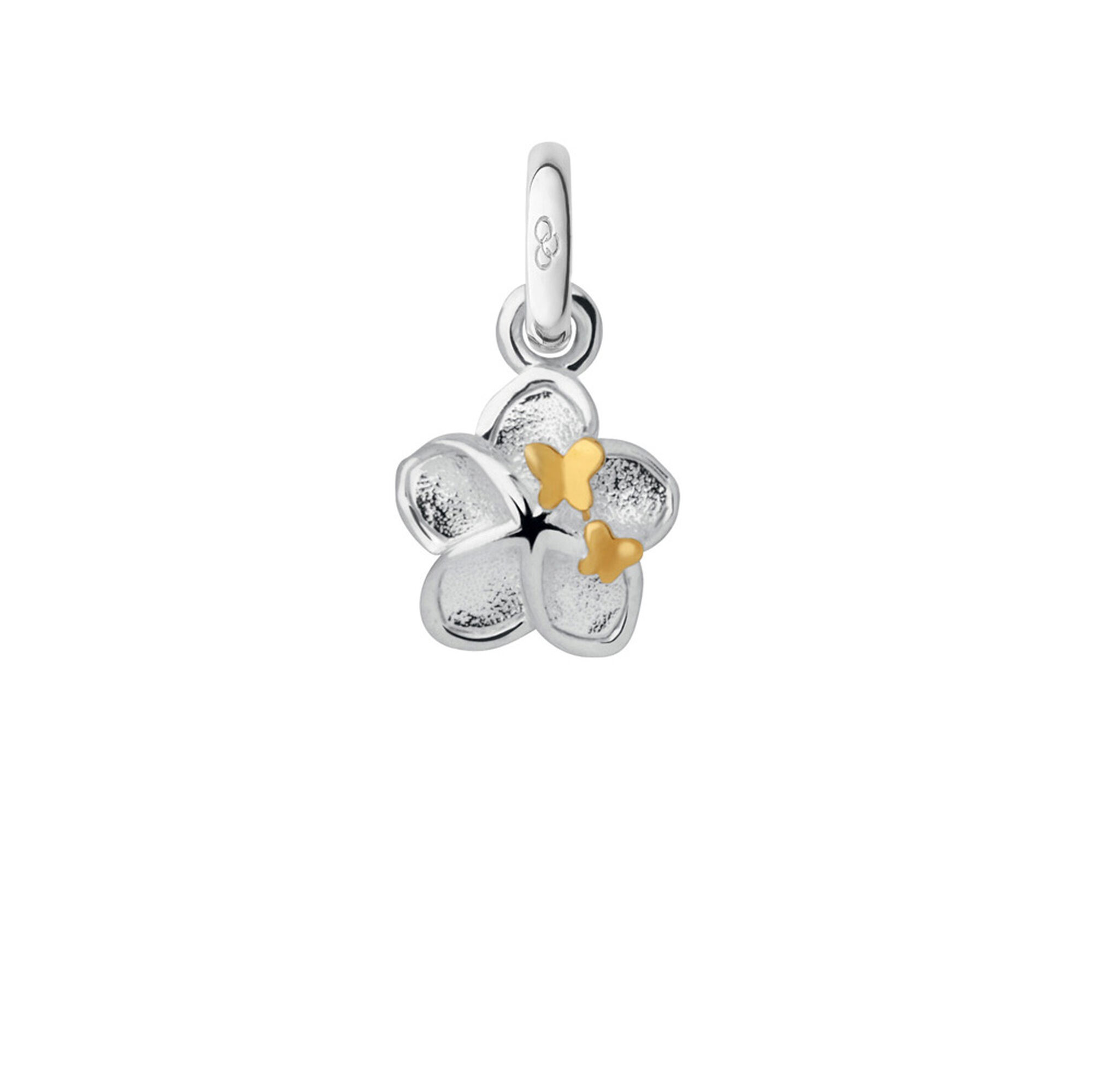 silver mini flower and butterfly charm links of london