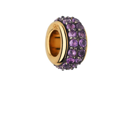 Sweetie 18K Yellow Gold Vermeil & Amethyst Pave Bead, , hires
