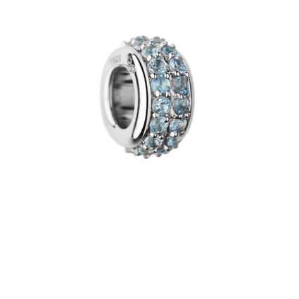 Sweetie Sterling Silver & Blue Topaz Pave Bead, , hires