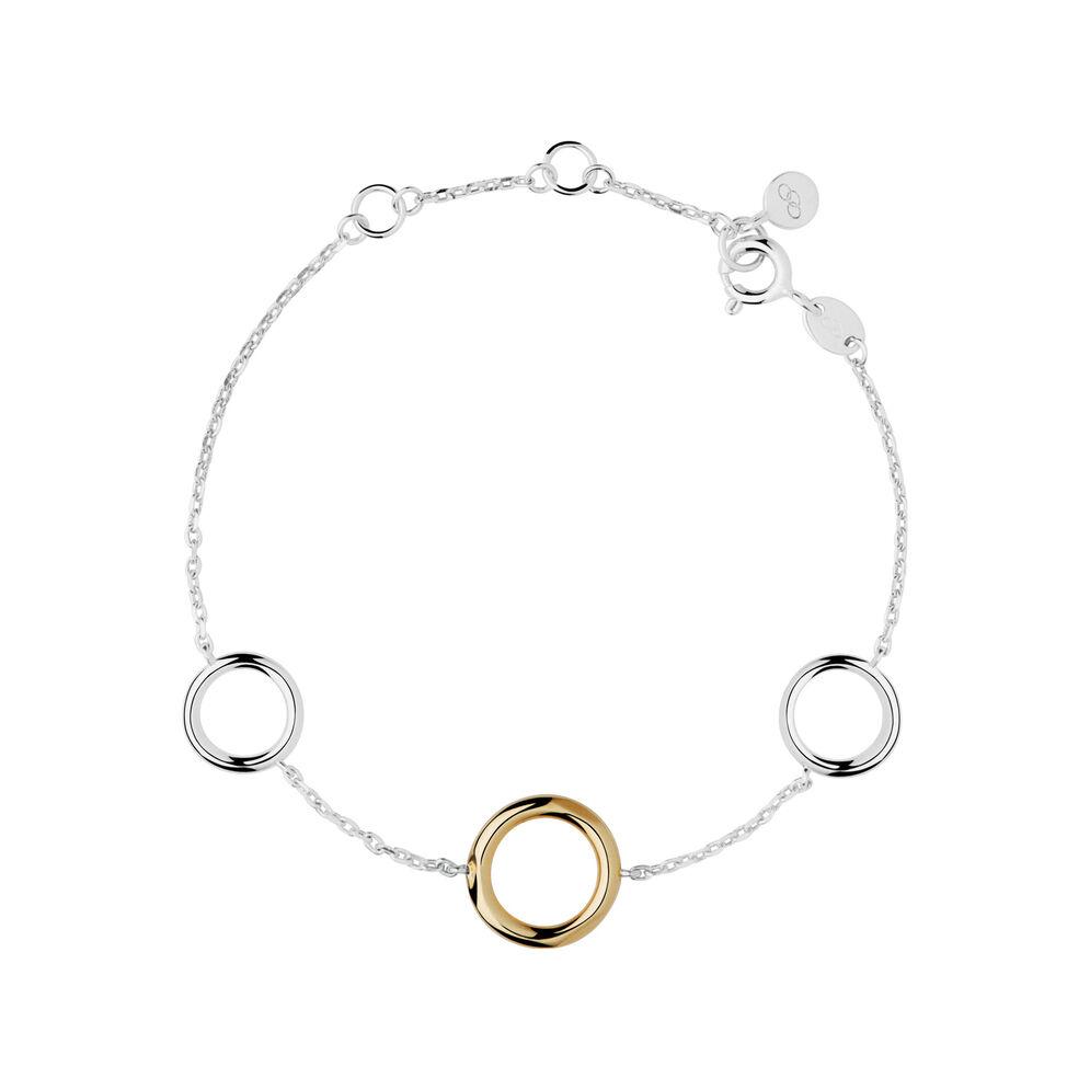 20/20 Bi-Metal Sterling Silver and 18kt Gold Bracelet, , hires