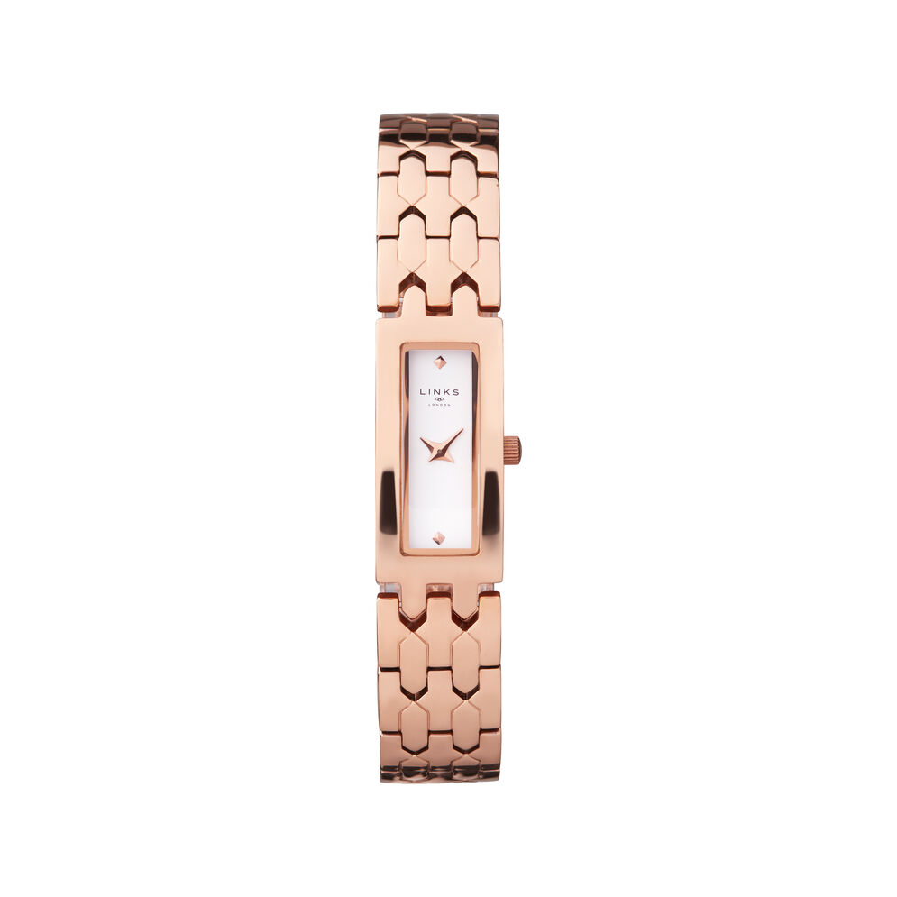 Selene Stainless Steel Rose Gold Tone Watch, , hires