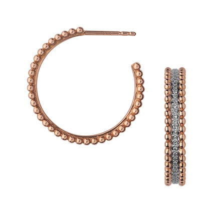 Effervescence 18K Rose Gold & Diamond Hoop Earrings, , hires