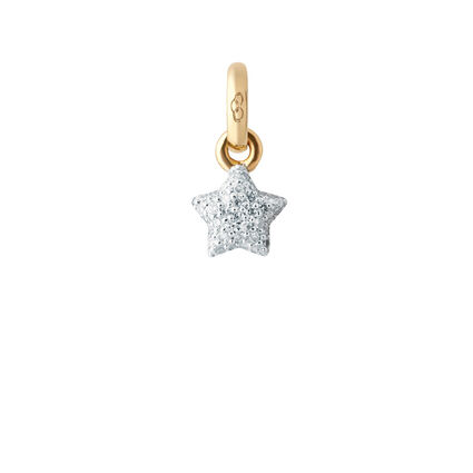 Mini Pave Star 18K Yellow Gold & Diamond Charm, , hires