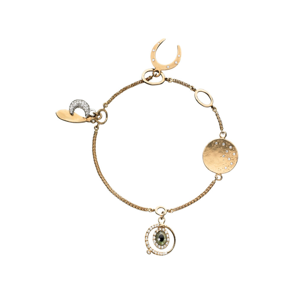 Watch Over Me 18kt Yellow Gold & Diamond Serenity Bracelet, , hires