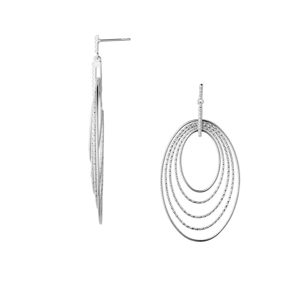 Aurora Sterling Silver Loop Chandelier Earrings, , hires