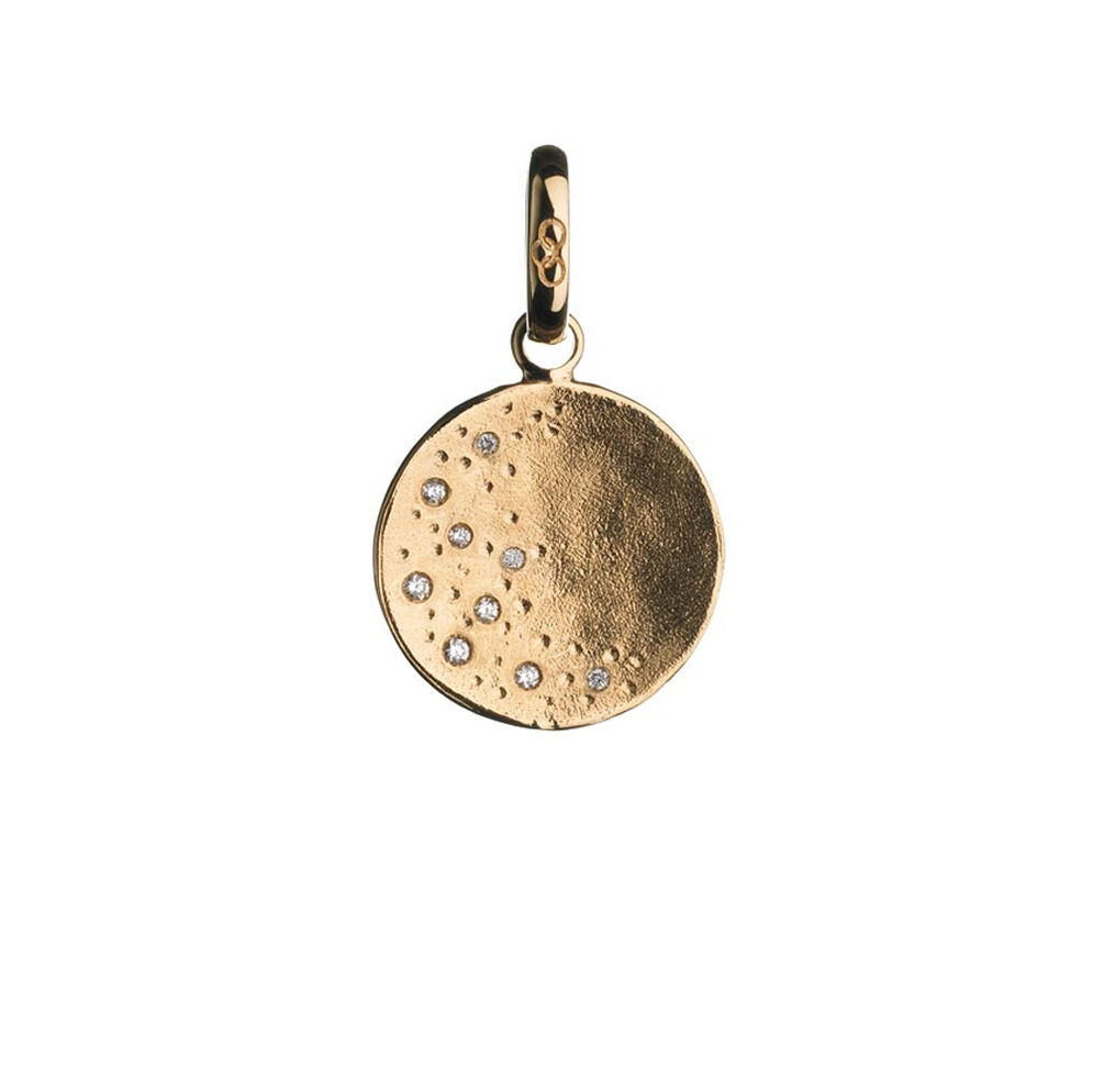 Watch Over Me 18kt Yellow Gold & Diamond Moon Charm, , hires