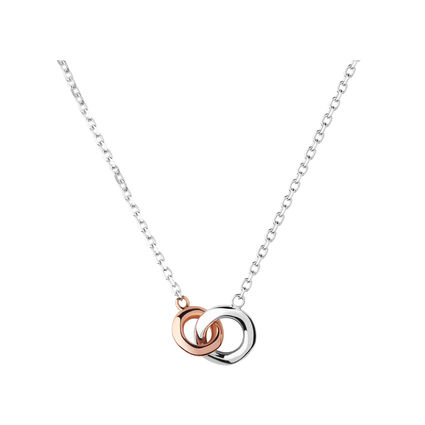20/20 Sterling Silver & 18kt Rose Gold Mini Necklace, , hires