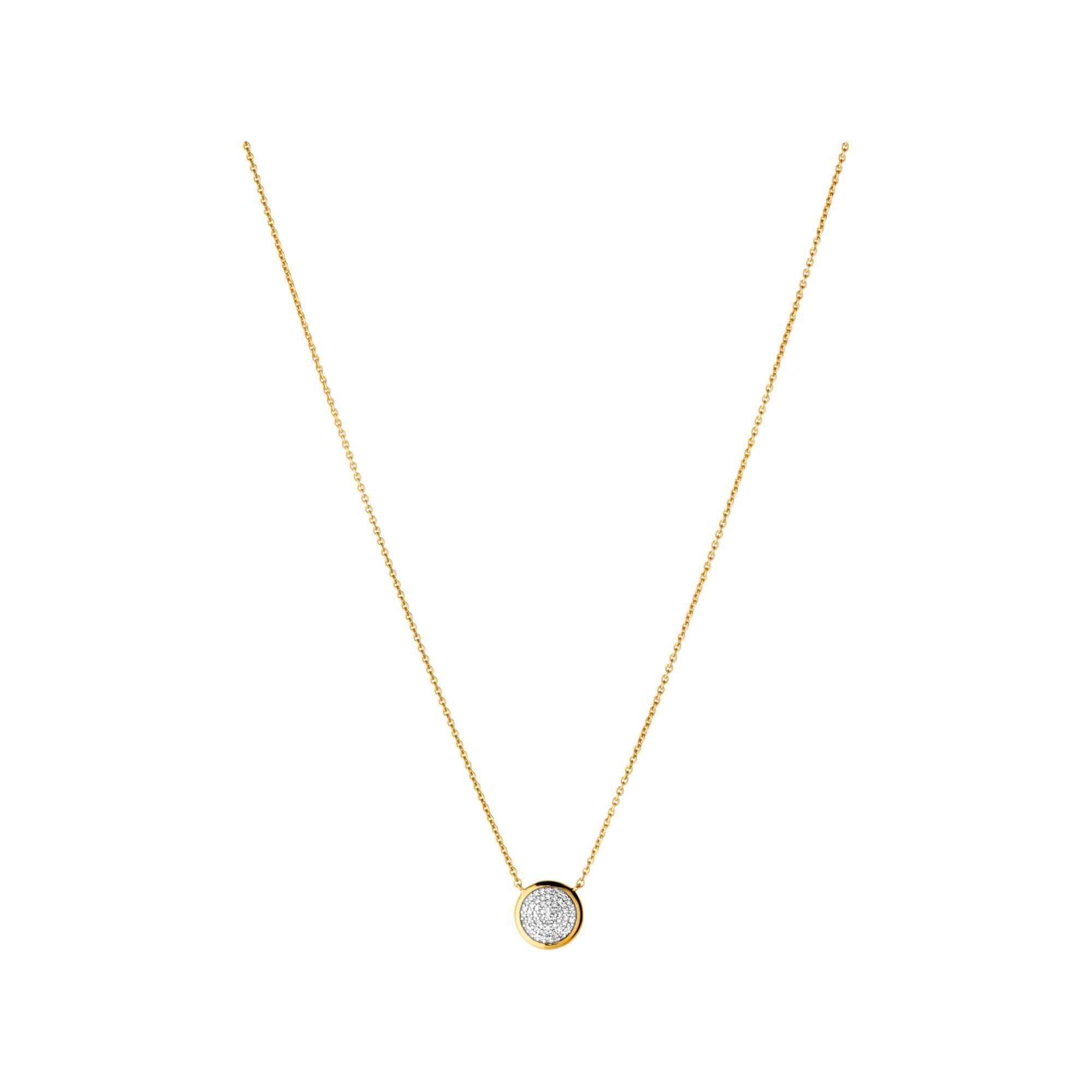 Diamond essentials yellow gold pave round necklace links of london diamond essentials pave round necklace yellow gold vermeil hires aloadofball Choice Image