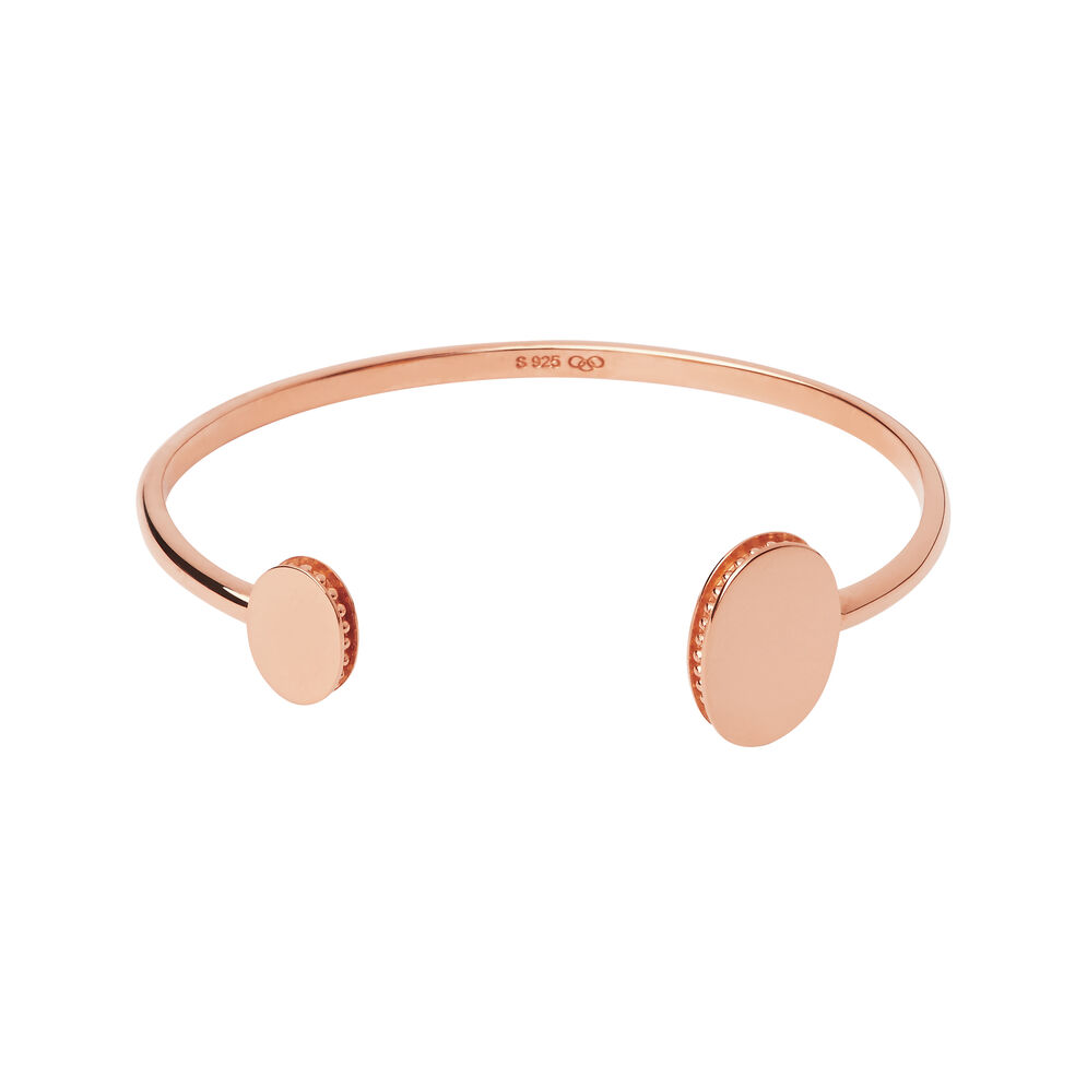 Narrative 18kt Rose Gold Vermeil Open Double Cuff Bangle, , hires