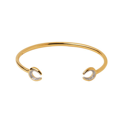 Diamond Essentials 18K Yellow Gold Vermeil Horseshoe Cuff, , hires