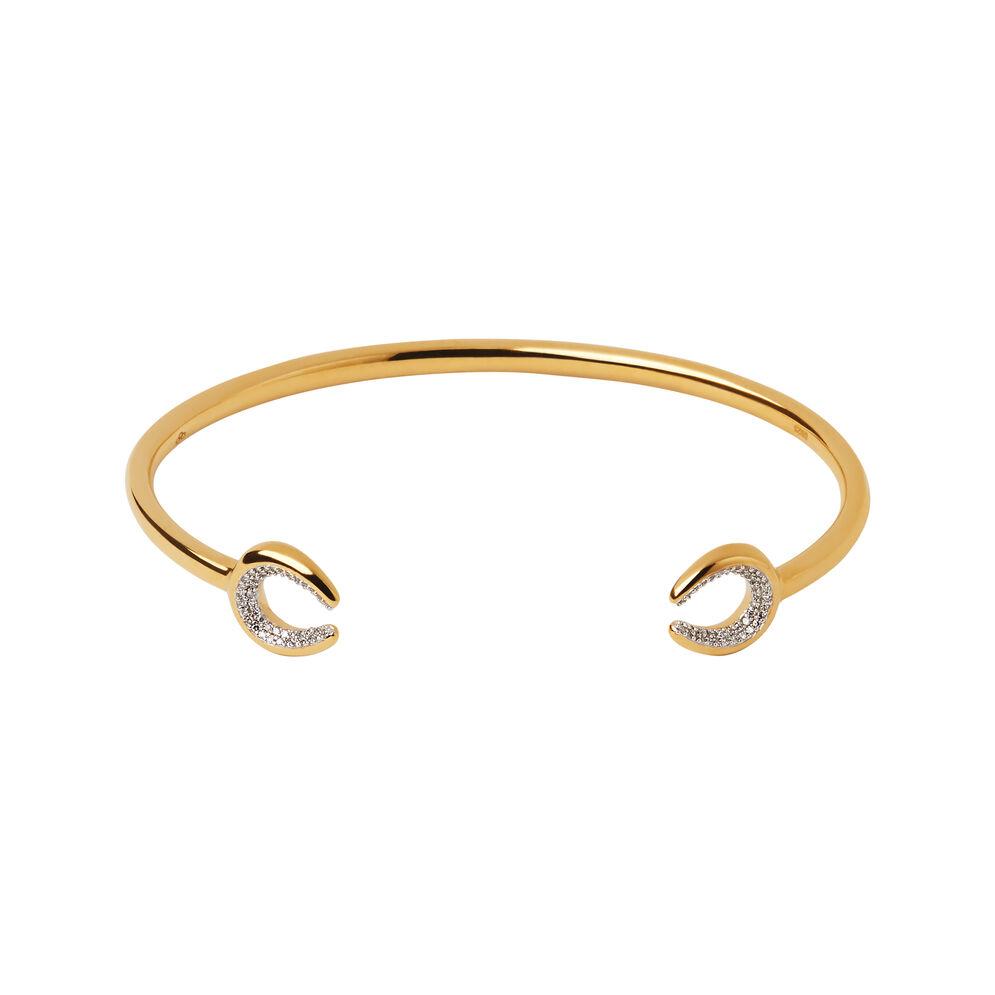Ascot Diamond Essentials 18kt Yellow Gold Vermeil Horseshoe Cuff, , hires