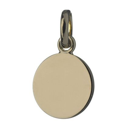 Disc 18K Yellow Gold Charm, , hires